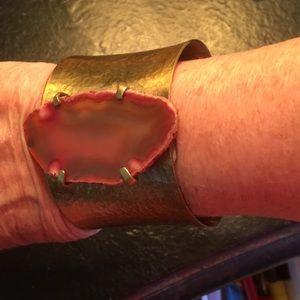 Jewelry - Natural geode stone cuff bracelet